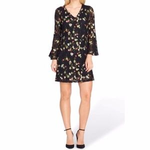Tahari Black Lace Floral Embroidered Dress 6